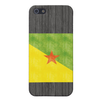 Retro Vintage French Guiana Flag Cases For iPhone 5