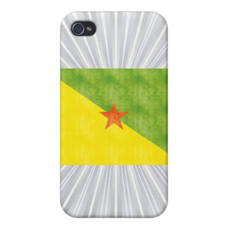 Retro Vintage French Guiana Flag Covers For iPhone 4