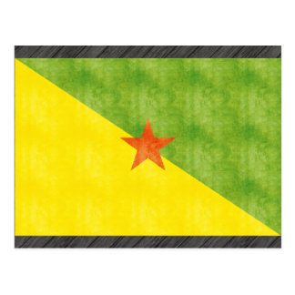 Retro Vintage French Guiana Flag Postcard