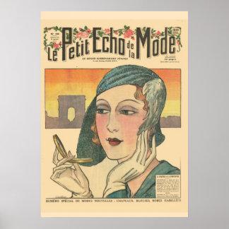 """Retro vintage French  """"Le Petit Echo de ma Mode"""" Poster"""