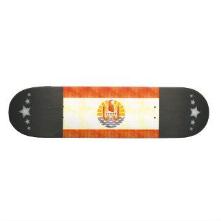 Retro Vintage French Polynesia Flag Skateboards