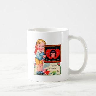 Retro Vintage German Valentine Learning & Yearning Coffee Mug