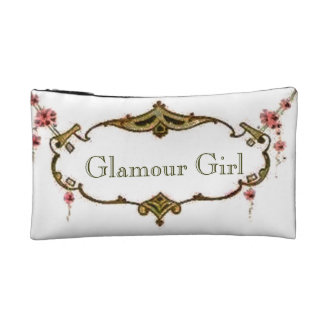 Retro Vintage Glamour Girl Cosmetic Bagettes Bag