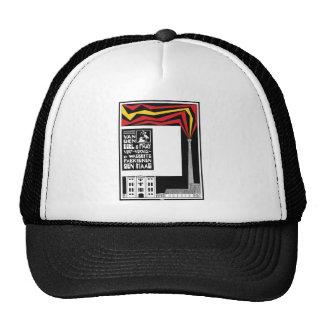 retro vintage graphic advertisement: paint factory trucker hat