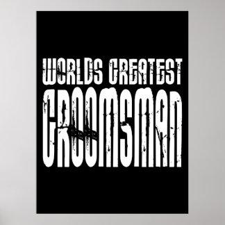 Retro Vintage Groomsmen World's Greatest Groomsman Poster