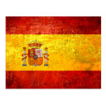Retro Vintage Grunge Spanish flag of Spain Postcards