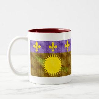 Retro Vintage Guadeloupe Flag Coffee Mug