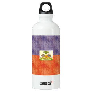 Retro Vintage Haiti Flag Aluminum Water Bottle