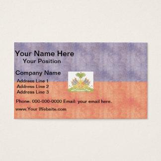 Retro Vintage Haiti Flag Business Card