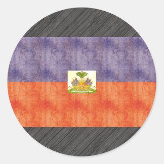 Retro Vintage Haiti Flag Classic Round Sticker