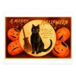Retro Vintage Halloween A Merry Halloween Postcards