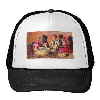 Retro Vintage Halloween Apple Bobbing Trucker Hat