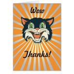 Retro Vintage Halloween Cat Cards
