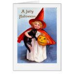 Retro Vintage Halloween Jolly Halloween Greeting Cards