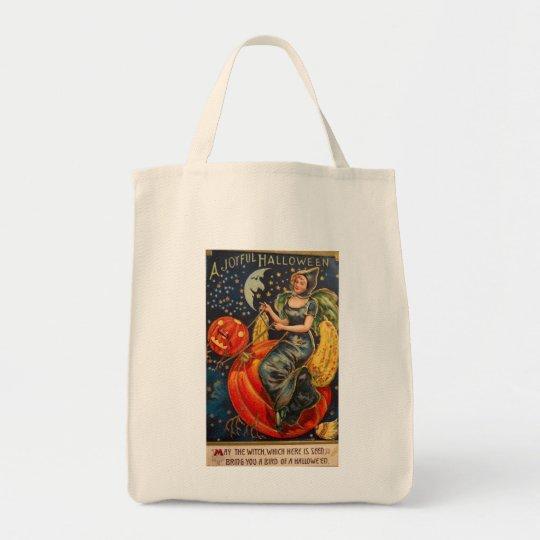 Retro Vintage Halloween Joyful Halloween Tote Bag