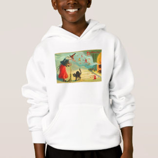 Retro Vintage Halloween Witches Have Black Cats Hoodie