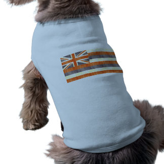 Retro Vintage Hawaii Flag Dog Shirt