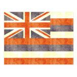 Retro Vintage Hawaii Flag Post Cards