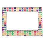 Retro vintage heart tiled heart pattern colorful magnetic photo frames