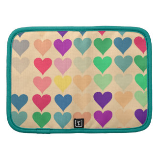 Retro vintage heart tiled heart pattern colorful planners