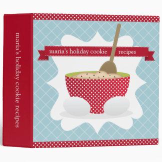 Retro Vintage Holiday Recipe Binder