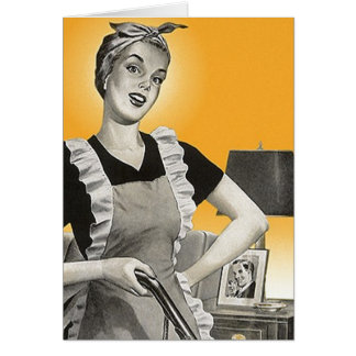 Retro Vintage Housewife Housecleaning Lady Cards