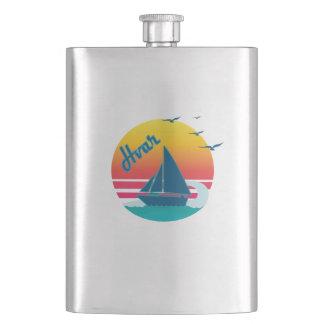 Retro Vintage Hvar Sunset, #Hvar Flask