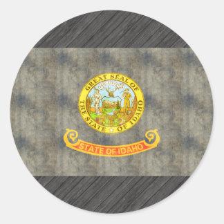 Retro Vintage Idaho Flag Stickers
