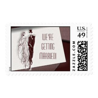 Retro / vintage invitation postage