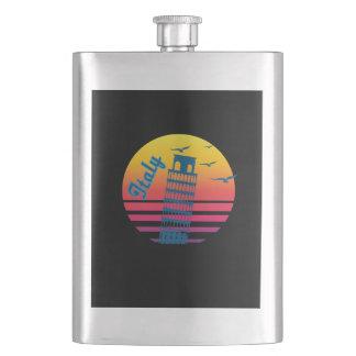 Retro Vintage Italy Sunset, #Italy Flask