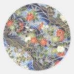 Retro Vintage Japanese Kimono Origami Chiyogami Stickers