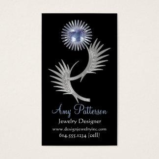 Retro Vintage Jeweled Blue Design 2 Business Card