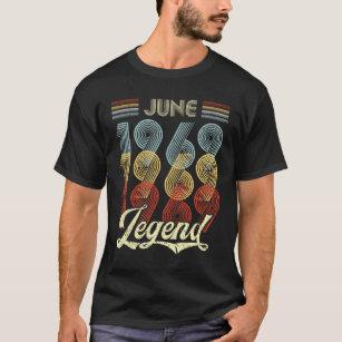 Retro Vintage June 1969 Legend 50th Birthday T Shirt