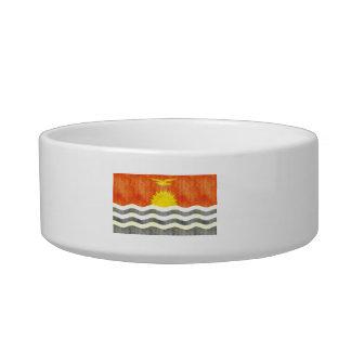 Retro Vintage Kiribati Flag Cat Bowl