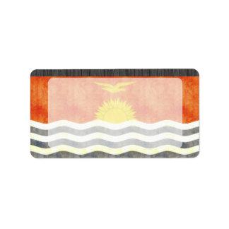 Retro Vintage Kiribati Flag Custom Address Labels