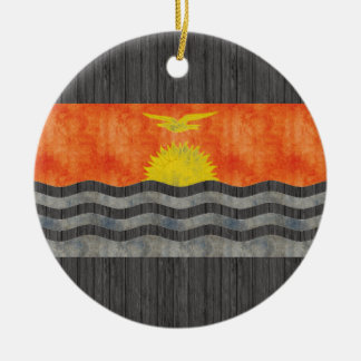 Retro Vintage Kiribati Flag Christmas Tree Ornaments
