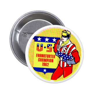 Retro Vintage Kitsch 1962 U.S Frankfurter Champ Pins