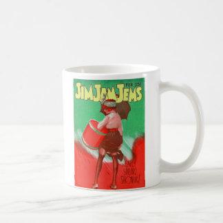 Retro Vintage Kitsch 20s Jim Jam Jems Pin Up Classic White Coffee Mug