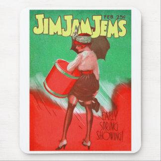 Retro Vintage Kitsch 20s Jim Jam Jems Pin Up Mouse Pad