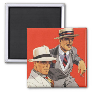 Retro Vintage Kitsch 20s Men's Fashion Ad Art Magnet