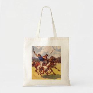 Retro Vintage Kitsch 20s Polo Match Budget Tote Bag