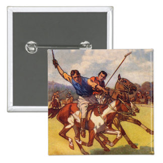 Retro Vintage Kitsch 20s Polo Match Pinback Button