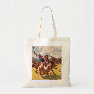 Retro Vintage Kitsch 20s Polo Match Tote Bag