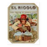 Retro Vintage Kitsch 30s Cigar El Ricolo Chimp Postcards