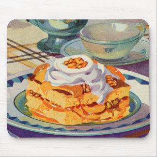 Retro Vintage Kitsch 30s Cookbook Peach Shortcake Mousepads