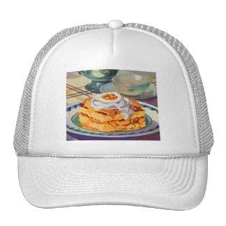 Retro Vintage Kitsch 30s Cookbook Peach Shortcake Trucker Hat