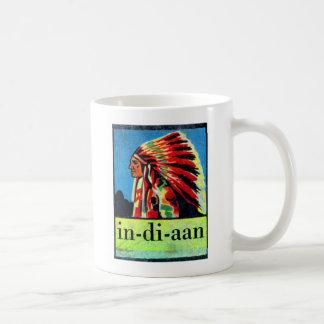 Retro Vintage Kitsch 30s Dutch Indian in-di-aan Coffee Mug