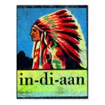 Retro Vintage Kitsch 30s Dutch Indian in-di-aan Postcards