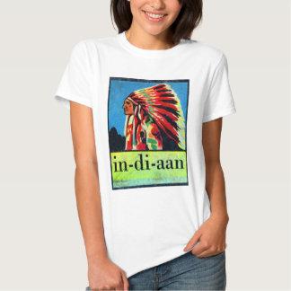 Retro Vintage Kitsch 30s Dutch Indian in-di-aan T-Shirt
