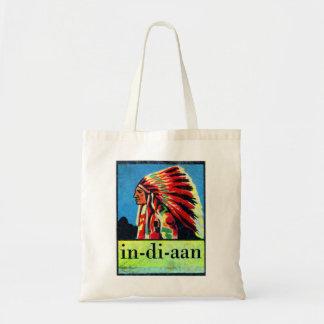 Retro Vintage Kitsch 30s Dutch Indian in-di-aan Tote Bag